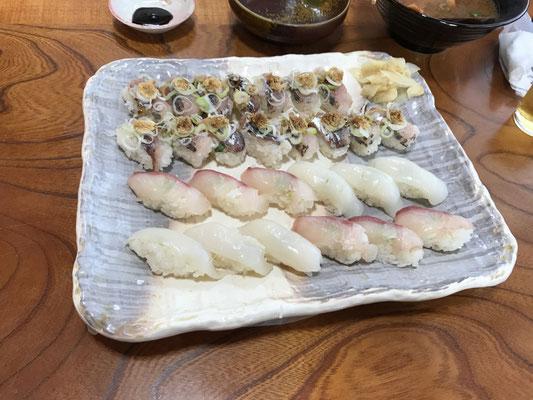 「こあじ寿司」。堪能しました。