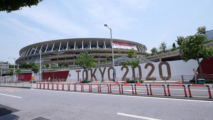 オリンピックスタジアム(国立競技場)。開会式、閉会式、陸上、サッカーが行われます。