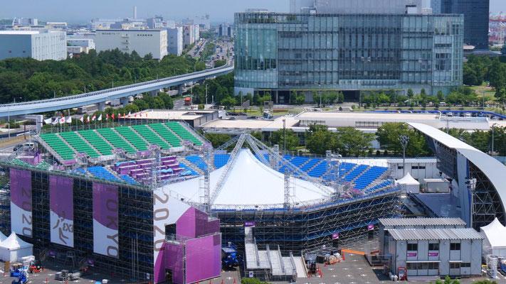 バスケットボール(3×3)、スポーツクライミングが行われる、青海アーバンスポーツパーク。