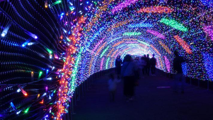 輝く通路。