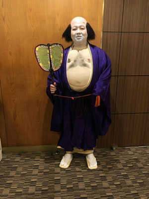 布袋尊に扮した当社社長:伊藤。