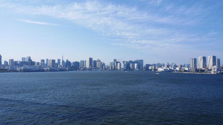サウスルートからは、東京都心部方向を一望できます。