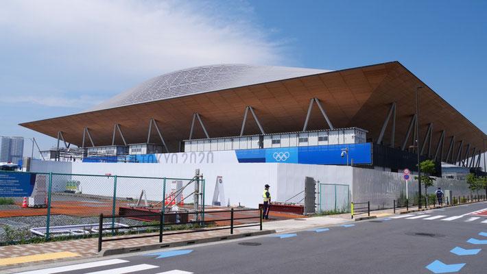 体操競技、ボッチャが行われる有明体操競技場。TOKYO2020後は、展示会場として使わる予定だそうです。