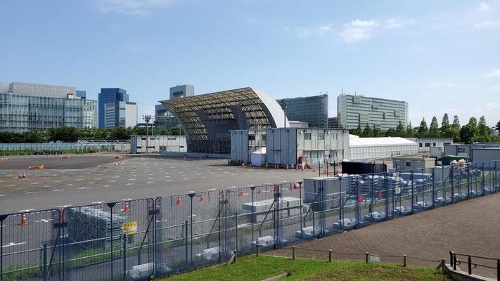 青海アーバンスポーツパーク。バスケットボールの3x3、スポーツクライミングが行われます。