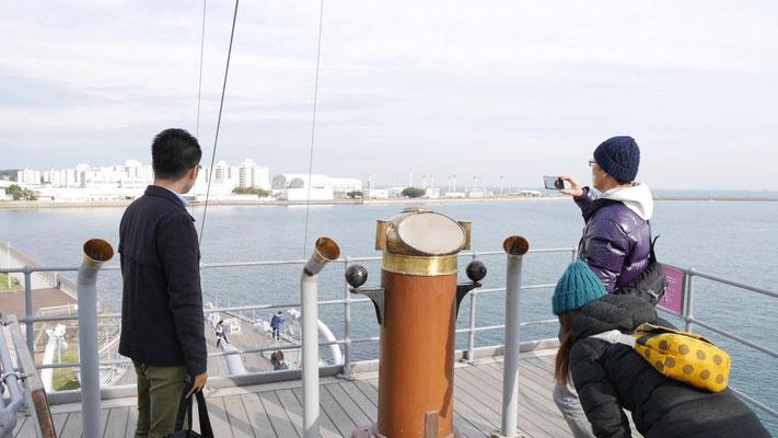 この艦橋から東郷平八郎は艦隊を指揮したのですね。