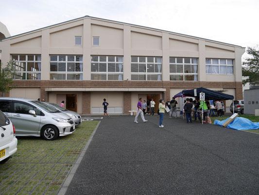 避難所宿泊学習を行った日野市立平山小学校