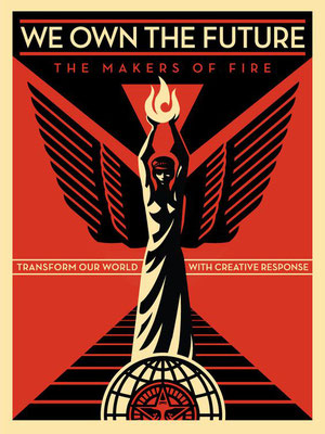 we own the future shepard fairey