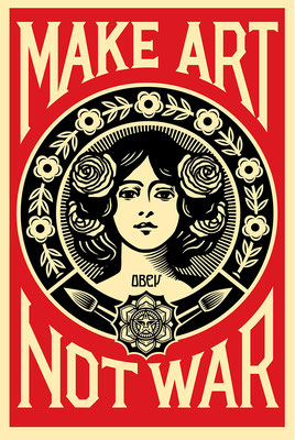 Make art not was shepard fairey