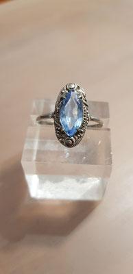 Blau Topas Ring 830er Silber Nr 9