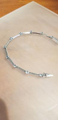 Blau Topas Armband   Blau Topas /& Markasit  925er Silber