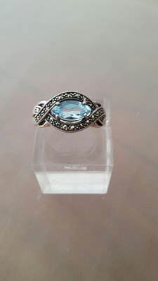 neuer Blautopas Ring 10