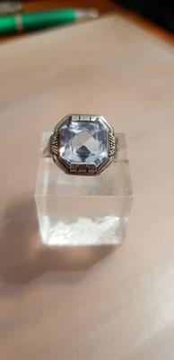 Blau Topas ring 935er Silber Nr 5