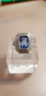Blau Topas Ring Nr 4 835er Silber