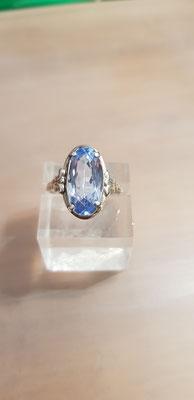 Blau Topas Ring 830 Silber Nr 2