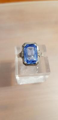Blau Toopas Ring Nr 1 835er Silber