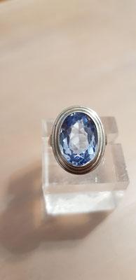 Blau Topas Ring 835er Silber Nr 6