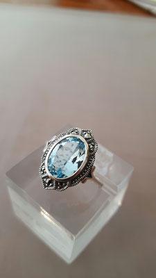 neuer Blau Topas Ring 8