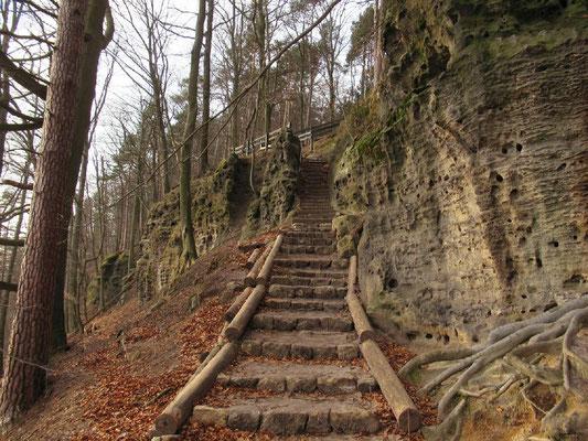 Gabrielensteig, kurz unterhalb dieser Stelle mündete früher der Entenpfützenweg