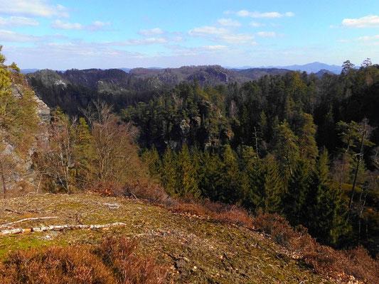 Aussicht über der Wobstspitze