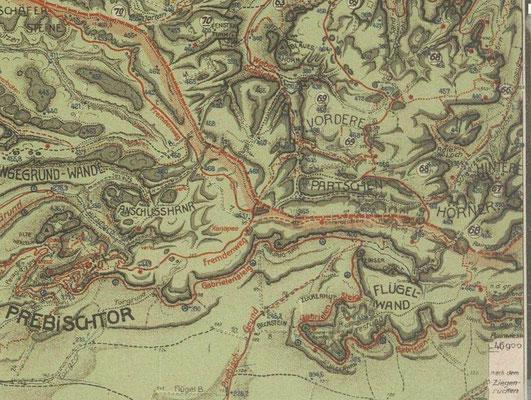 Karte von Johannes Schulz 1928