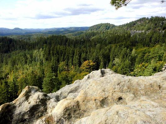 Aussicht von Mariens Ruhe, dem südwestlichen Teil des Tannigtsteiges