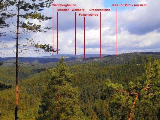 Aussicht vom Rosengartenkopf Richtung Nordwest