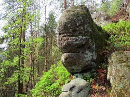 Alte Forstgrenzzahl