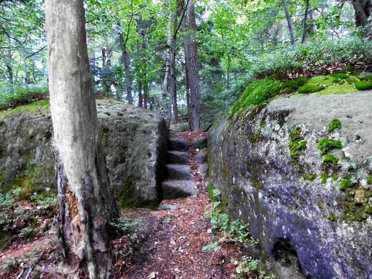 Alte Treppe im östlichen Teil vom Tannigtsteig