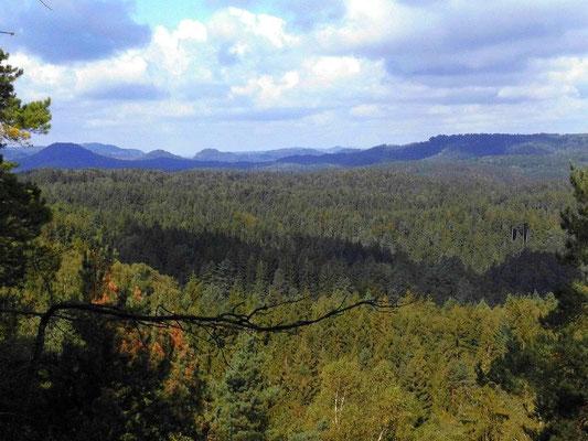 Aussicht vom Rosengartenkopf Richtung West
