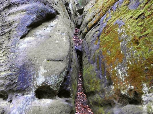 Ehemalige Stiege, Kletterstelle Nr. 1