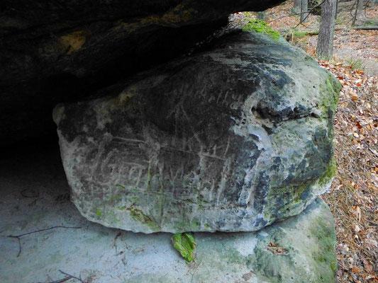 Alte Markierung Gratweg und Hickelhöhle