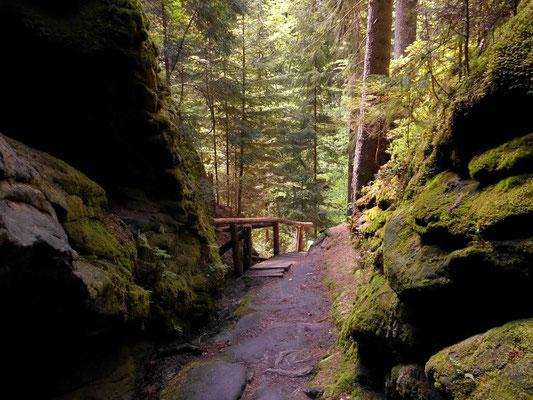 Unterer Ausgang vom Felstunnel