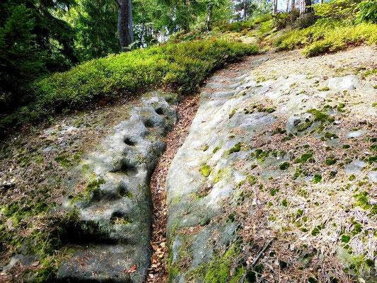 Alte Treppe vom Tannigtsteig hinter der Balzhütte