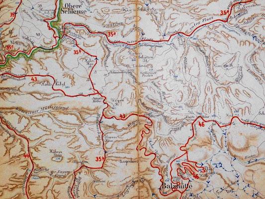 Meinholds Routenführer 1910. Gesamtüberblick der markierten Routen vom Schwarzen Tor bis zur Balzhütte.