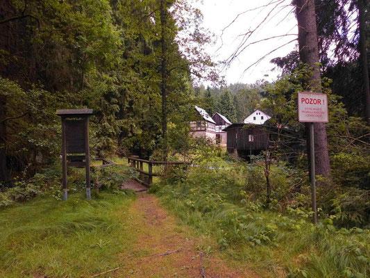 Wander-Grenzübergang 100 Meter unterhalb der Niedermühle
