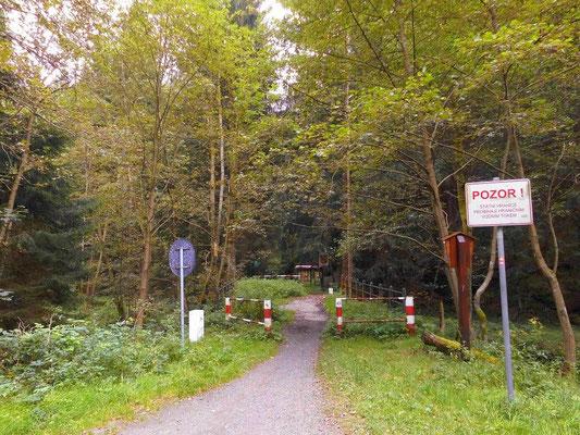 Grenzübergang Hinterhermsdorf - Khaatal für Wanderer und Radfahrer
