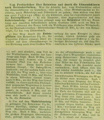 Entenpfützenweg in Meyers Reiseführer 1891