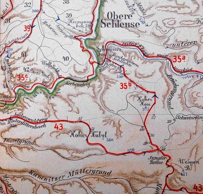 Meinholds Routenführer 1910. Die Route zur Balzhütte ist die Nr. 35 b.