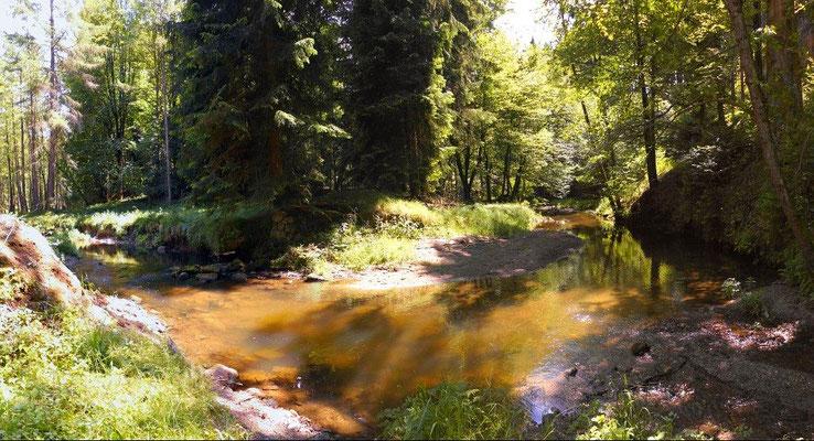 Ehemalige Brücke zur Böhmischen Mühle