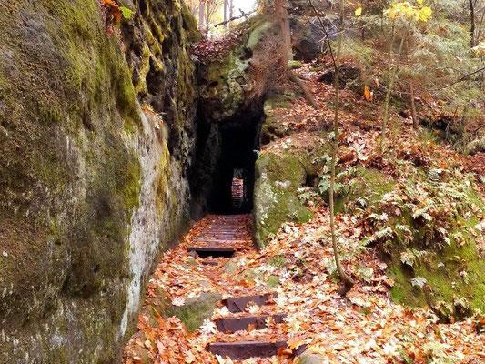 Unterer Ausgang vom Tunnel