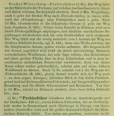 Fremdenweg in Meyers Reiseführer 1891 Seite 198