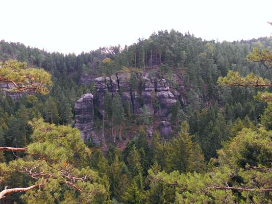 Aussicht vom Rosengartenkopf zur Rosengartenbastei