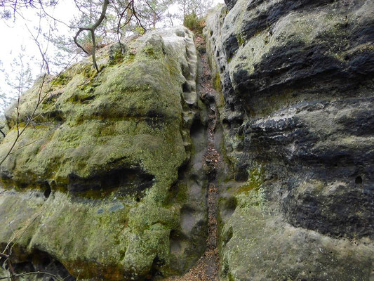 Ehemalige Stiege, Kletterstelle Nr. 4