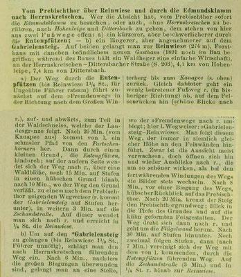 Entenpfützenweg in Meyers Reiseführer 1891, der hübsche Grund ist das Beergründel