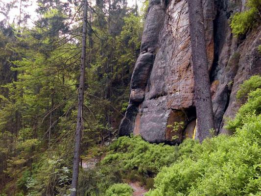 Weg zwischen Hermannseck und Kerbensteig