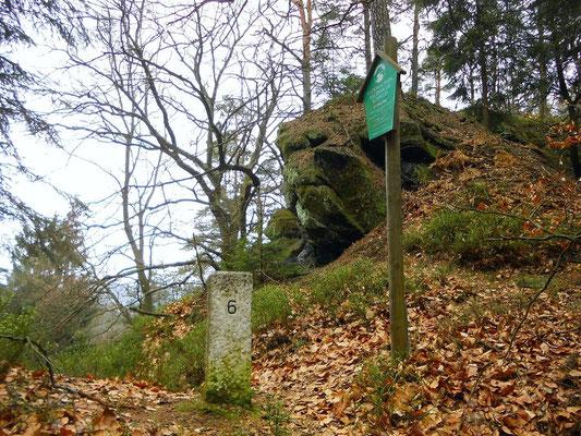 Südliches Ende vom Thorwalder Gratweg am Grenzstein 6