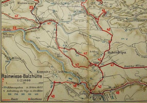 Karte Meinholds Routenführer 1910