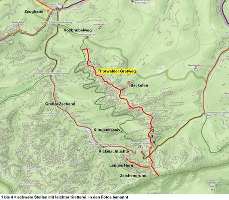 Thorwalder Gratweg, Übersichtskarte, Quelle Mapy.cz