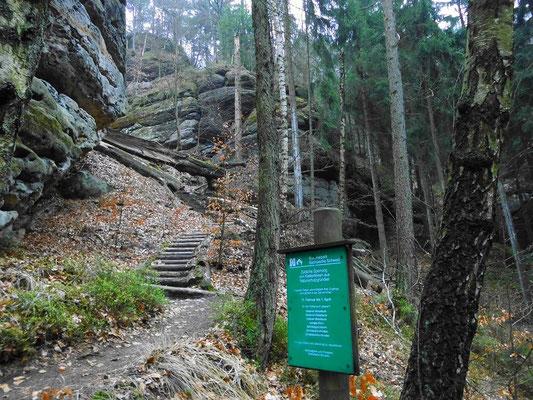 Abstieg zur Hickelhöhle