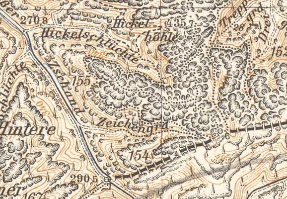 Langes Horn, Meßtischblatt 1942